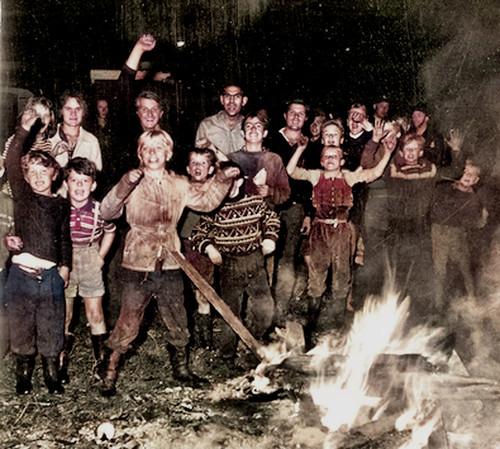 The night bonfire