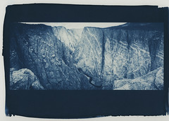 black canyon, in blue (lawatt) Tags: black canyon rock wall gunnison river colorado altprocess cyanotype wares hahnemuhleplatinumrag