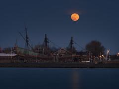 Moon over the Batavia.