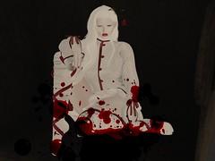 hurt (Tympany) Tags: maitreya genus littlebones glamaffair kokoropeachu gacharare caboodle balletsocks blood white pale albino red redandwhite beuniquestore eyes twotoneeyes poppy lode redlipstick