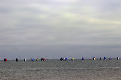 Sails in line (Gill Stafford) Tags: gillstafford gillys image photograph wales northwales conwy llandudno victorian sea tourism recreation scorpiannationals dinghy championships race 2019