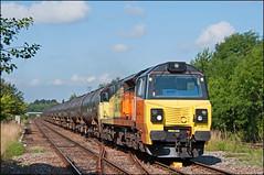 70816, Bamber Bridge (UK), 02/08/19 (bontybermo402) Tags: colas 70816 6e32 preston docks lindsey oil refinery bitumen totaluk bamber bridge rail freight powerhaul ge general electric