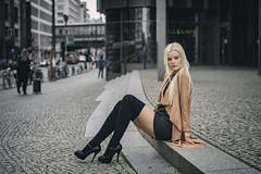 Franziska (juergenberlin) Tags: fashion portrait streetfashion overknee high heels blond long hair
