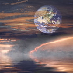 Earth (awevans4) Tags: earth clouds red water planet sky fantasy