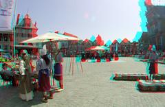 Kaasmarkt  Hoorn 3D GoPro (wim hoppenbrouwers) Tags: kaasmarkt hoorn 3d anaglyph stereo redcyan