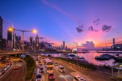 The Sunset Glow at Causeway Bay, Hong Kong (johnlsl) Tags: sunsetglow causewaybay hongkong