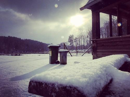 Snowy bench