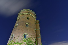 The Tower at the Centre of the Universe (Robin Shepperson) Tags: night tower universe stars longexposure le up sky clouds berlin germany d3400 nikon green vines bricks windows old time history drag yellow blue