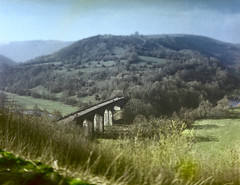 Headstone Viaduct (D Eckold) Tags: portra 160 bronicaetrsi schneiderkreuznach 55mm f45 pcs super angulon mediumformat film analog landscape bridge 645 peak district monsal tiltshift