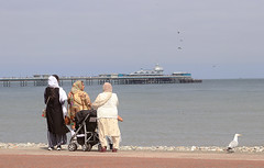 A family day out (Gill Stafford) Tags: gillstafford gillys image photograph wales northwales conwy seaside resort family female indian llandudno pier victorian architecture tourists