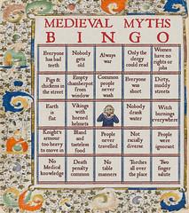 Medieval myths bingo (Jo Hedwig Teeuwisse) Tags: medieval history education middeleeuwen geschiedenis myths cliches bingo medievalmythsbingo