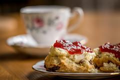 Tea Time (Lindsey1611) Tags: scone jam cream tea strawberry argument devonorcornwall socivilised afternoontea creamtea teacup rareoutingfortheposhcrockery