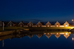Harbour Seascape Theme III (Rind Photo) Tags: frederikshavn denmark harbourhouses seascape reflections beautiful night longexposure geotagged blue nikkor nikond200 ccd atmosphere silence clauschristoffersen rindphoto flickrrindphoto travel theme