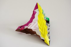 Feather Pen Tetrahedron (Byriah Loper) (Byriah Loper) Tags: origami origamimodular modularorigami modular kusudama byriahloper paperfolding paper polygon polyhedron