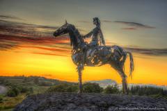 27/52 The Gaelic Chieftain (Marty Cooke) Tags: ireland horse landscape gaelic irishhistory boyle countyroscommon roscommon coroscommon sunset sculpture metal outside war outdoor metalsculpture warfare nineyearswar