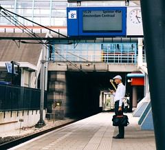 It's just another day.. (erlingraahede) Tags: summer vsco canon poetic lines trainstation people streetphotography holland amsterdam