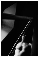 the master's sword (Armin Fuchs) Tags: arminfuchs selfportrait bokken sword aikido mirror light shadow reflection diagonal dark 24mm window space aikiken aikidozentrumwürzburg