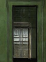 A Wall Through a Window Through a Window (Steve Taylor (Photography)) Tags: architecture digitalart green brown uk gb england greatbritain unitedkingdom london texture britishmuseum