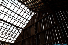 Something New from 2010...the Barn Matrix No 2 (Walt Snyder) Tags: canoneos5d barn roof rooflattice clouds abstract 2010