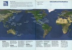 Continental international destinations, 1993 (airbus777) Tags: continentalairlines 2003 routemap