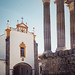 Roman temple of Evora, Portugal and  St. John the Evangelist Church