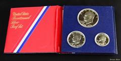 US Proof Set 1876-1976 (-Brian Blair-) Tags: odc money coin proof silver bicentennial usa folder stripe red white blue three dollar quarter halfdollar eisenhower kennedy washington metal