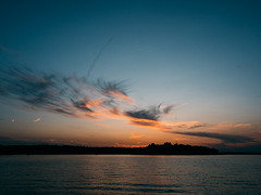 on we roll (dajonas) Tags: michigan sunset lake august summer