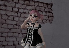 glasses (holinuv) Tags: kemono loli maid dress galsses pinkhair kawaii anime second life secondlife