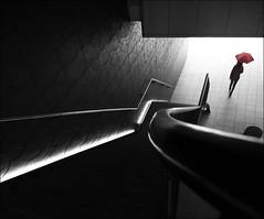 F_47A6701-1-Canon 5DIII-Canon 16-35mm-May Lee 廖藹淳 (May-margy) Tags: maymargy photoshop 再編修 人像 陽傘 背影 樓梯 建築 幾何構圖 點人 街拍 線條造型與光影 天馬行空鏡頭的異想世界 心象意象與影像 台灣攝影師 台北市 台灣 中華民國 retouching portrait umbrella red viewfromback staircase architecture humaningeometry humanelement streetviewphotography mylensandmyimagination linesformsandlightandshadow naturalcoincidencethrumylens taiwanphotographer taipeicity taiwan repofchina f47a67011 canon5diii canon1635mm maylee廖藹淳