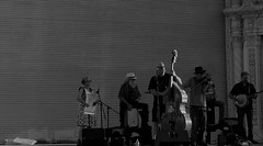 Back Pocket Whiskey Fellas (Rand Luv'n Life) Tags: odc our daily challenge san diego california local view entertainment balboa park outdoor organ pavilion folk country bluegrass irish music monochrome back pocket whiskey fellas concert natural sunset light