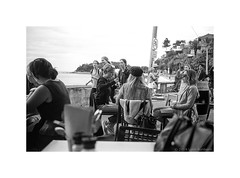 Cabbage Tree Bay, Sydney 2019  #921 (lynnb's snaps) Tags: street bw film manly fp4 leicacl id1111 voigtlander35mmf2ultronvin voigtlander35mmf2ultronvintage bowercafe cvultron35mmf2asphericalv cvultron35mmf2asphericalvintagemmount blackandwhite blancoynegro monochrome blackwhite noiretblanc ishootfilm bianconero lostcat biancoenero 2019 schwarzweis rangefinderphotography bianconegro filmfilmforever filmneverdie leicafilmphotography road people sign poster coast crossing sad relaxing suburbia pole relaxed cafebar