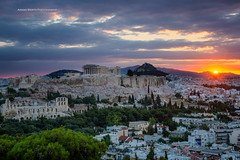 Athens Sunrise (ArmanWerthPhotography) Tags: armanwerthphotography athens sunrise filopappouhill acropolis parthenon