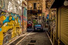 Backstreets.... (Dafydd Penguin) Tags: vandal grafitti graffiti inner city decay car street alley candid raw alleyway road deprevation greece athens greek flea market leica m10 35mm summicron f2 asph urban town district crime