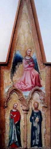 IMG_7394 Pseudo Jacopino vers 1300-1350 Bologna Un angelo i santi Lucia e Paolo   An angel the saints Lucia and Paolo  1329 Bologna Pinacoteca Nazionale