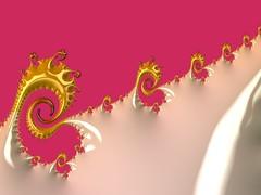 Hem Stitch (BKHagar *Kim*) Tags: bkhagar fractal mathematical design digital art algorithm frax fraxhd pink white yellow hemstitch