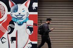 😼 (jhnmccrmck) Tags: melbourne victoria 3000 classicchrome xt1 xf1855mm fujifilm fujifilmxt1 flinderslane streetart manekineko 招き猫 pedestrian street explore iminexplore