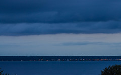 Öresund blue hour (frankmh) Tags: hittarp skåne sweden öresund denmark evening