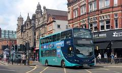 NK13 AZJ, Arriva Volvo/Wright Hybrid 1718, Leeds, 31st. July 2019. (Crewcastrian) Tags: leeds buses transport arriva volvo wright hybrid nk13azj 1718