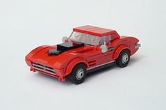 1967 Corvette Sting Ray L36 (C2) (MOCs & Stuff) Tags: lego city town 1967 corvette sting ray l36 c2 hard top