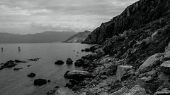 surfer... (milance1965) Tags: baška krk inselkrk kroatia croatia kroatien hrvatska blackwhite schwarzweiss panorama landscape landschaft fuji xt1
