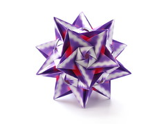 С днём рождения, Володя! (ronatka) Tags: kusudama modularorigami vladimirfrolov square violet whitebackground birthday gift ef50mmf14usm purple harmonypaper