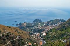 Paysage : View of Taormina from Castelmola (Nabil Molinari Photography) Tags: paysage view taormina from castelmola