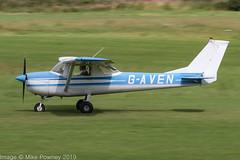 G-AVEN - 1966 Reims built Cessna F150G, arriving on Runway 26R at Barton (egcc) Tags: 0202 150g ali barton ce150 cessna cessna150 cityairport egcb f150g gaven lightroom manchester reims