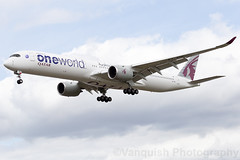 A7-ANE QATAR Airways One World Alliance Livery A350-1000 London Heathrow Airport (Vanquish-Photography) Tags: a7ane qatar airways one world alliance livery a3501000 london heathrow airport vanquish photography vanquishphotography ryan taylor ryantaylor aviation railway canon eos 7d 6d 80d aeroplane train spotting egll lhr londonheathrow londonheathrowairport heathrowairport