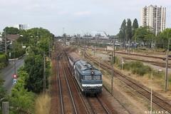 BB67515 - ME100 - Train n°463279 Argenteuil-Triage > Le Bourget-Triage (nicolascbx) Tags: bb67400 bb67515 vb2n sncf dieseltrain acheminement train zug valdargenteuil argenteuil argenteuilvalnotredame vnd valdoise lebourgettriage gcnord grandeceinturenord chemindefer station bb27300 lignej transilien 463279