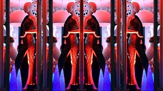 Red light district? (Snapshooter46) Tags: manequin shopwindow boutique redlight womensfashions lollymitch highstreet tring eveningdress
