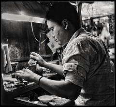 Gem cutter, Psar They, Phnom Penh. (the jacal) Tags: asia southeastasia cambodiaasia cambodiacambodge cambodia cambodge market gems gemcutting olympus olympusem10 phnompenh psarthmey