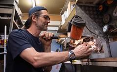 Men at work (alexanderferdinand) Tags: shooting technik sanz chainsaw kettensäge funken sparks canoneos5dmarkiv