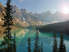 Sunny Evening (Koku85 (Thanks for 1 million views)) Tags: morainelake banff nature water lake landscape mountains