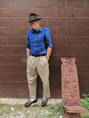 8-3-2019 Today's Clothes (Michael A2012) Tags: this mans summer style vintage fashion champ kasmir finish fedora hat fur felt polo ralph lauren lands end murano nunn bush cotton linen